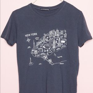 Brandy Melville rare New York map tee